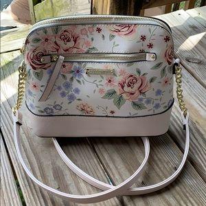 Madden Girl small ballet pink/floral crossbody bag